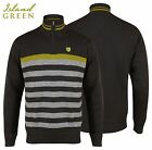 Island Green Lined Windproof Zip Neck Breathable Golf Jumper M,L,XL,XXL GREY New