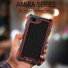 AMIRA Shockproof Carbon Fiber Tempered Glass Aluminum Cover For iphone 7 8 Plus