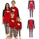 Christmas  Family Womens Sleepwear Pajamas Set Striped Cotton Pyjamas Outfits