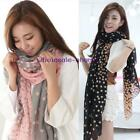 New Fashion Lady Women's Long Polka Dot Scarf Wraps Shawl Stole Soft Scarves