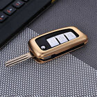 Hot Car Key Case Cover For Nissan Folding Key Aircraft Aluminum Genuine Leather
