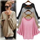 Oversized Women's Long Batwing Sleeve Tops Casual Loose Pullover Sweater Blouse