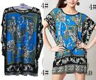 AU SELLER BOHO Women's Tunic Kaftan Loose Long Top/Beach Cover Up SZ S-XL T020-4