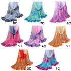 Women Girl Barry Rose Pattern Chiffon Shawl Party Scarf Wrap Stole Scarves