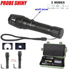 5000LM Zoomable CREE XM-L T6 LED 18650 Tactical Flashlight Torch Battery Charger