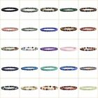 6mm Fashion round gemstone beads stretchable bracelet 6.5""