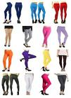 COTTON LOVELY SOFT STRETCH PLAIN QUALITY FULL LONG ANKLE LENGTH LEGGINGS SIZES