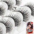 Makuep False Eyelashes Handmade 5Pair Long Eye Extension Eyelash Cosmetics Cross