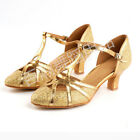 Women's Lady Girl's Ballroom Latin Tango Waltz Samba Dance Shoes Heels Dancing