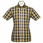 Brutus GREATFIT Mod Skin Retro Check Shirt Yellow Black