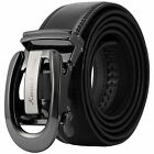 KS Adjustable Auto Lock Buckle Belts Mens Man Luxury Black Leather Belt 5 Types