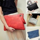 New Fashion Women Boho Shoulder Handbag Leather Clutch Bag Wallet Purse Envelope