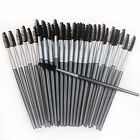 50/100 X Eyelash Lash Mascara Disposable Wand Brush Applicator Makeup Tool Black