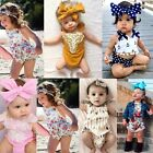 Newborn Infant Kids Baby Girl Floral Romper Bodysuit Jumpsuit Outfit Clothes Set