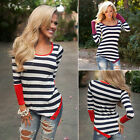 Fashion Ladies Women's Casual Tops T-Shirt Loose Blouse Cotton Long Sleeve Tops