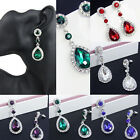 Fashion Women Crystal Vintage Drop Dangle Rhinestone Ear Stud Earrings Jewelry