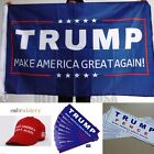 Make America Great Again Hat Cap Flag Sticker Donald Trump Pence 2016 Republican