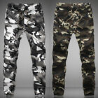 New Mens Classic Army Camo Slacks Slim Fit Trousers Cargo Jogger Pants Stylish