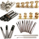 Head Button Plated Stud Leather Craft Bag Screw Tool Manual Leather Drilling Kit