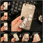 Handmade Diamonds Flower Ultra Thin TPU Soft Back Case Cover For Asus