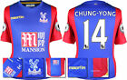 16 / 17 - MACRON CRYSTAL PALACE HOME SHIRT SS + PATCHES / CHUNG - YONG 14  SIZE*