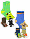 Boys Bright Novelty Character Socks New Childrens 3 Pack Cotton Rich Socks 6-3.5