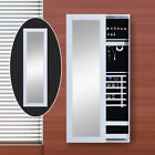 Mirrored Jewelry Cabinet Armoire Stand Earring Ring Organizer Storage Modern