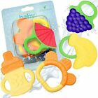 Baby Teething Teethers Toy BPA Free Natural Infant Chew Training Safe Silicone
