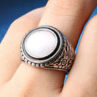 1pc Lady Classic Retro Silver Plated Opal New Style Ring Jewelry Gift
