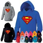 Mens Womens Superhero Superman Heavy Cotton Hooded Sweatshirts Hoody Hoodie 0A