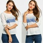 Women Casual Tops New T-Shirt Loose Fashion Ladies Cotton Blouse Long Sleeve