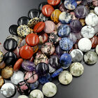 10pcs Natural Gemstones 20mm Coin Round Beads For Jewelry Design