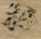 50pcs Charms pine cone 10mm Antique alloy pendant Vintage For Jewelry Making
