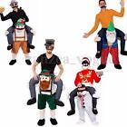Xmas Carry Me Piggy Back Ride On Mascot Dress Party Costume Christmas Snowman
