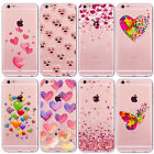 Romantic Love Hearts PINK Case For iPhone 6 6s 7 plus Thin Soft Silicon Cover