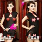 Nightwear Cheongsam Qipao Mini Dress Women's Lingeries Set Intimates Sleepwear