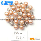 48mm Pretty Pearl White Gold Plated Peony Flower Brooch Fashion Jewelry Gift