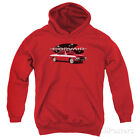 Youth Hoodie: Chevy- 65 Corvair Mona Spyda Coupe Apparel Pullover Hoodie - Red