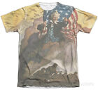Army- Uncle Sam With Troops Apparel T-Shirt - White