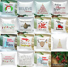 Personalized HOLIDAY THROW PILLOW CHRISTMAS 16x16 SQUARE CUSHION Zipper & Insert