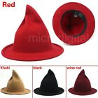 Winter Men Women Unisex Witch Pointed Wool Hat Cap Bowler Fedora Cap Trilby New
