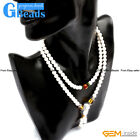 Natural White Tridacna Shell Beaded Bracelet Necklace With Citrine Buddha Agate