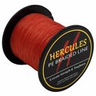 Red Spectra PE Dyneema 100M-2000M 6lb-300lb Hercules Strong Braided Fishing Line