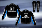 "Honda Auto Racing Jacket Mens Black Cotton Twill  NEW ""BLOWOUT"" SALE"