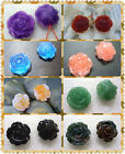 20mm Natural Beautiful Gemstone Rose Pendant Bead 2pcs