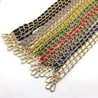 """51""""/130CM Gole CHAIN SHOULDER BAG STRAP CLIP-ON PU LEATHER BAND REPLACEMENT"""