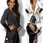 New Fashion Women's Cape Irregular Combed Cotton  Autumn Cardigan Jacket Coat