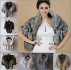 Grace Bridal Wedding Formal Faux Fur Long Shawl Stole Wrap Shrug Boleros Jacket
