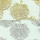 Hand fan Metal Beads Pendants Gold Silver Beads for Jewelry Making Supplies #180