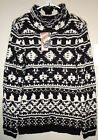 Sonoma Women's Sweater Scrunch Neck Boucle Black & White  M Med  XL $44 NWT